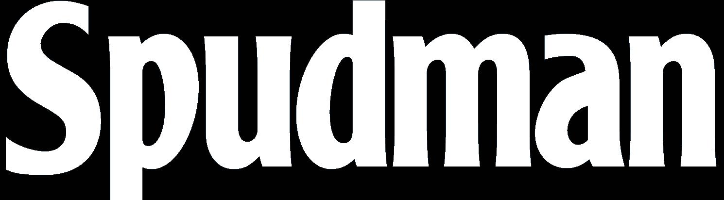 logo spudman nero